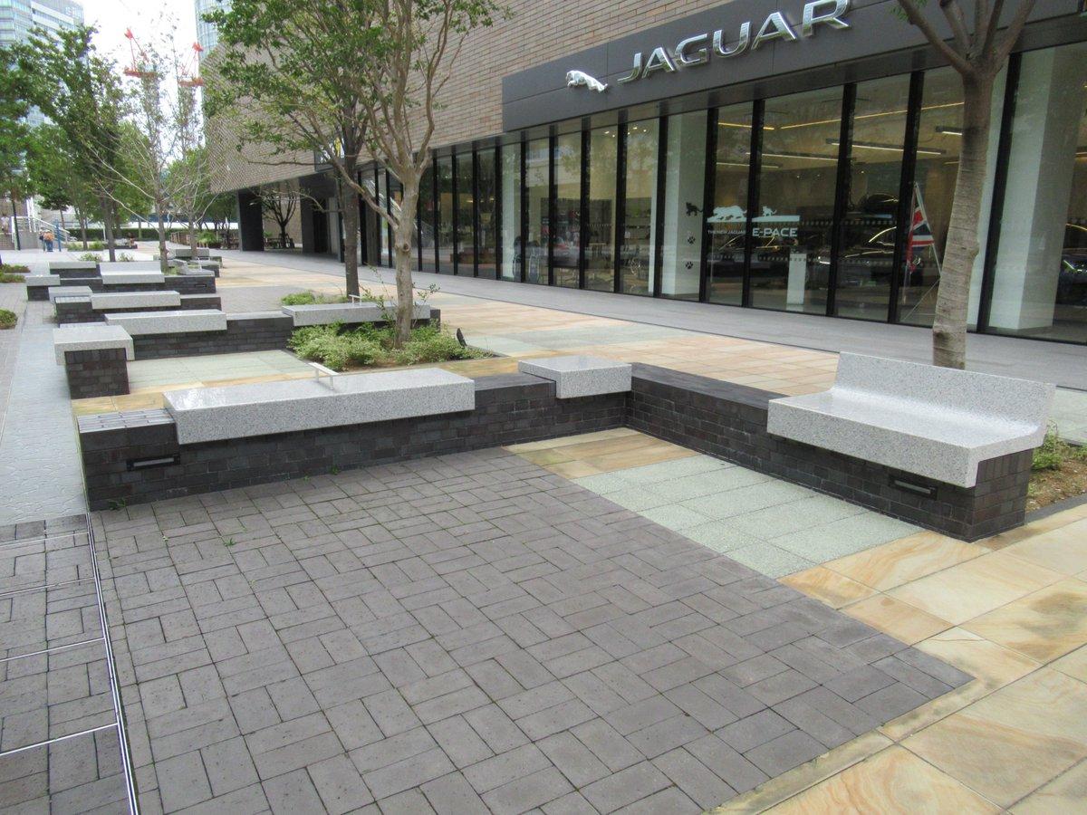Grand mall park bench