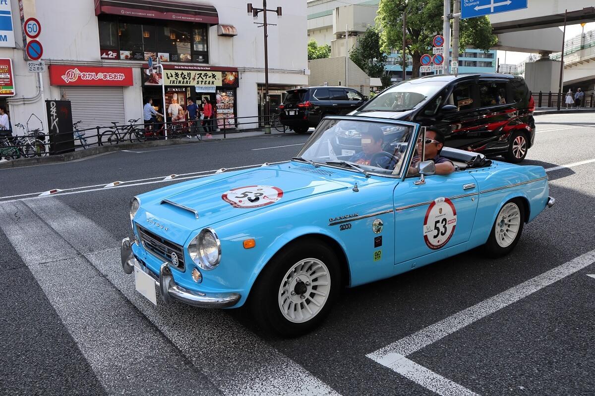 Motomachi/Yokohama・Classic Japan Rally 2019・No.53-DATSUN Fairlady2000