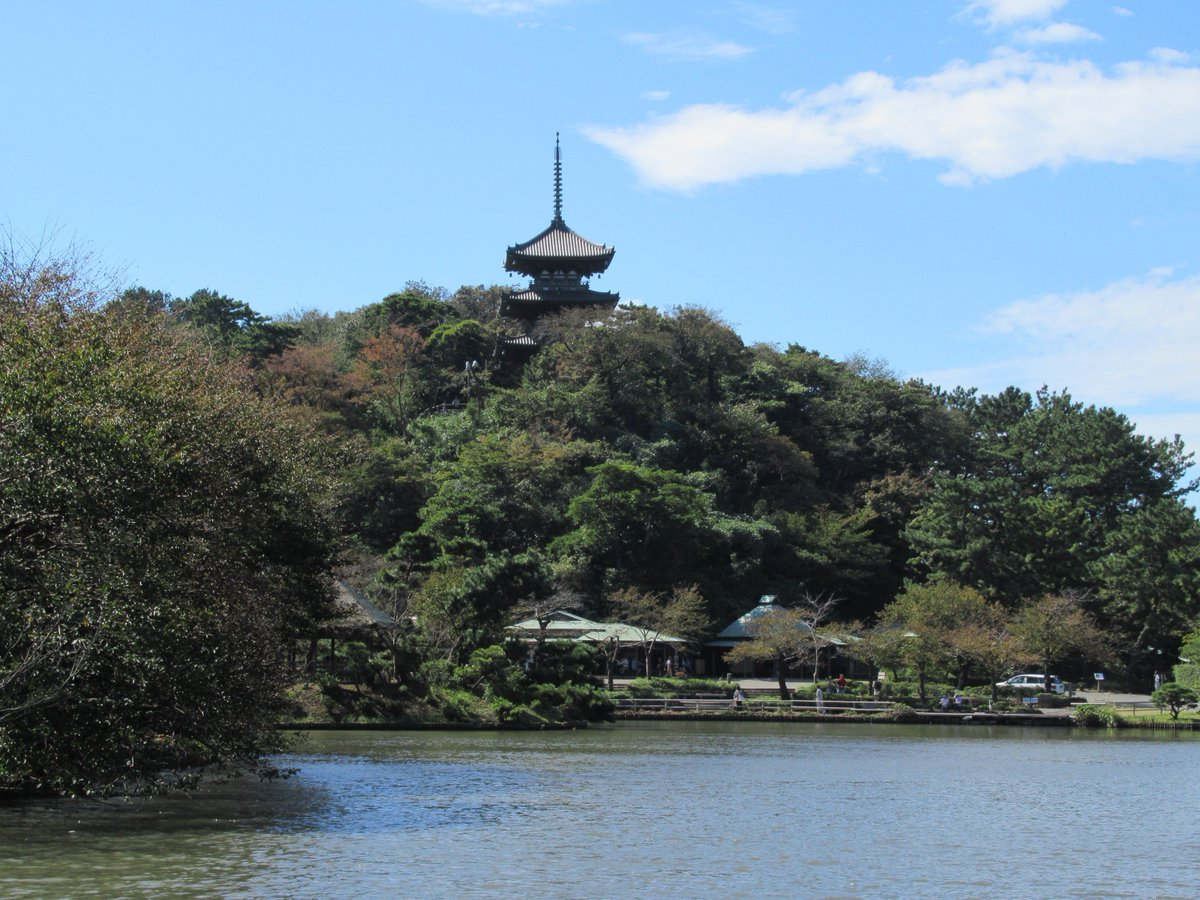 Yokohama Sankei Garden Oike and Three-Storied Pagoda(Tower)