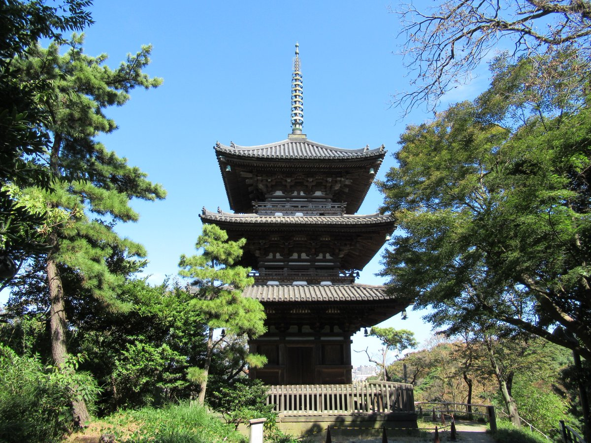 Yokohama Sankei Garden Three-Storied Pagoda(Tower)