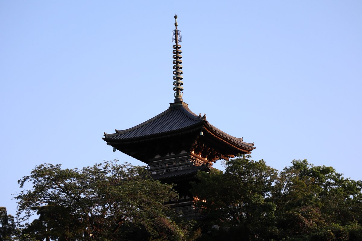 Sankeien Garden/Yokohama・Three-Storied Pagoda(Sunset)
