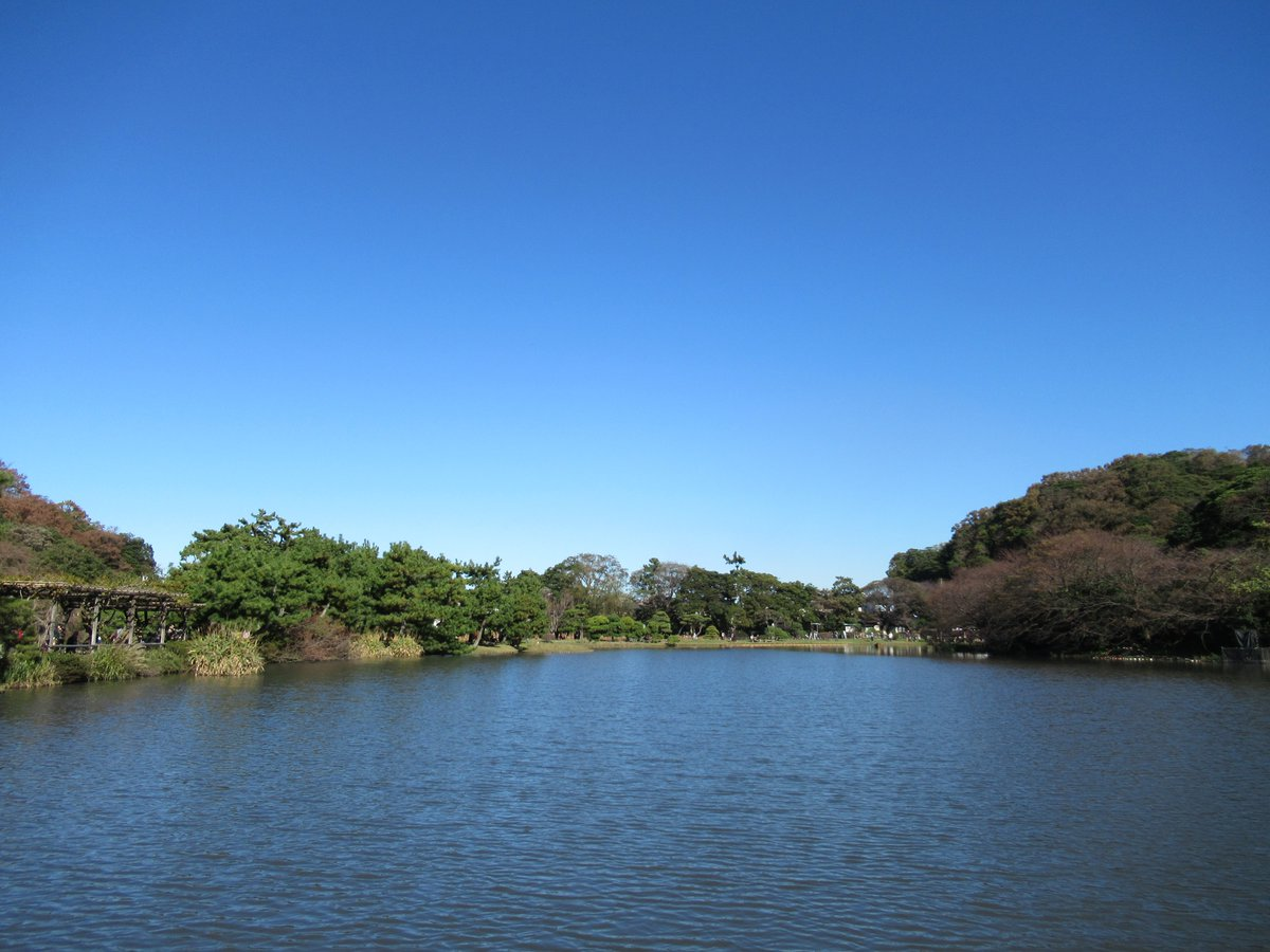 Yokohama Sankei Garden・Blue Sky and Big Pond