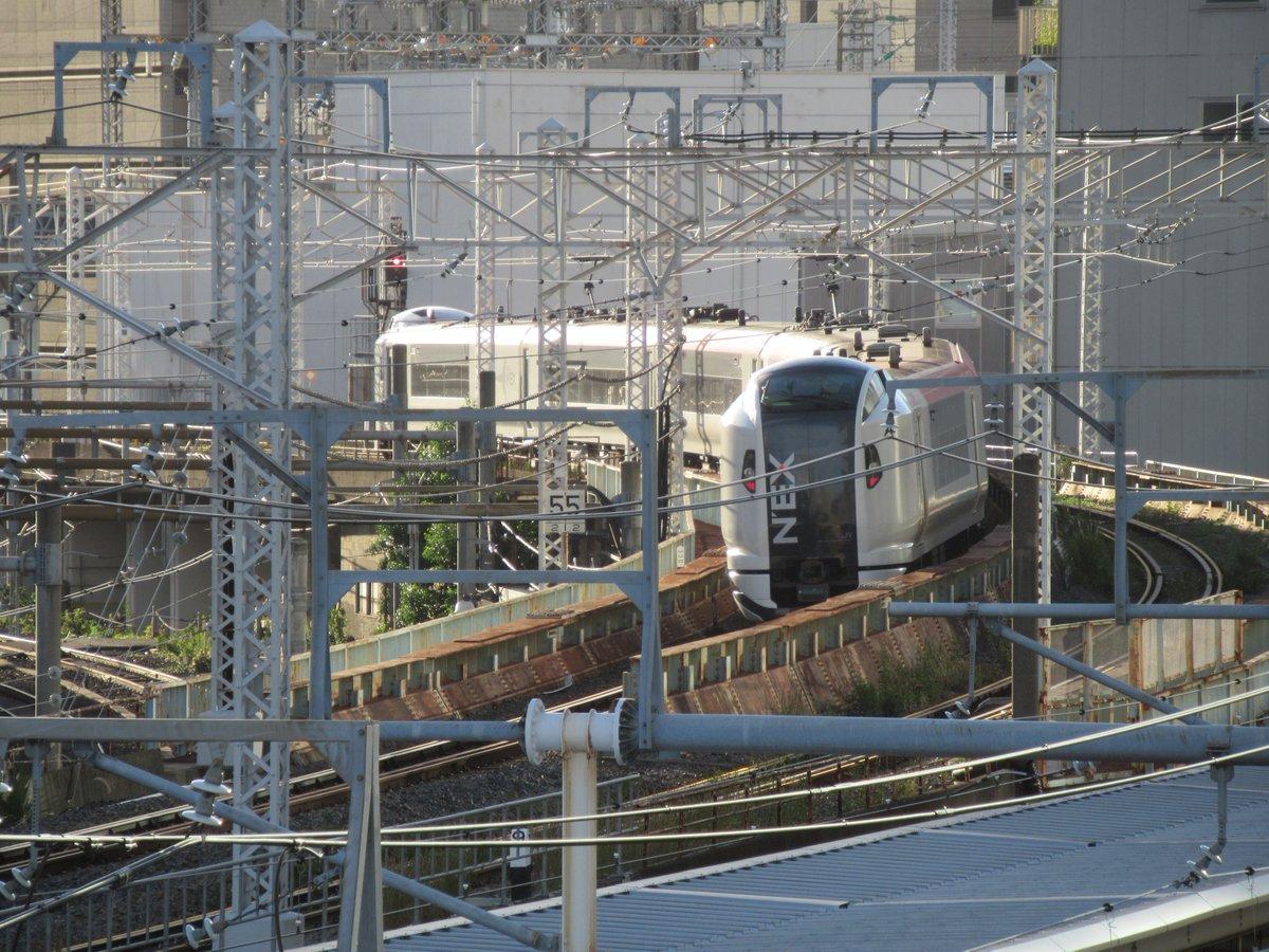 Narita Express E259.At the stop of Osaki station